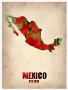 Mexico Watercolor Map