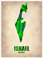 Israel Watercolor Map