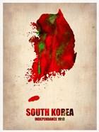South Korea Watercolor Map
