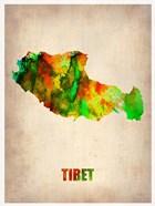 Tibet Watercolor Map