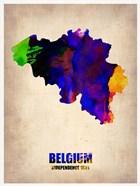 Belgium Watercolor Map