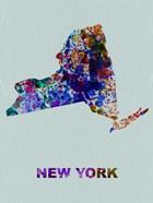 New York Color Splatter Map