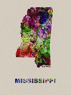 Mississippi Color Splatter Map