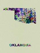 Oklahoma Color Splatter Map