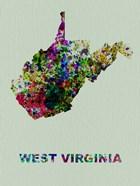 West Virginia Color Splatter Map