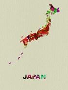 Japan Color Splatter Map