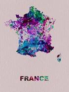 France Color Splatter Map