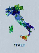 Italy Color Splatter Map