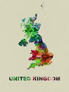 United Kingdom Color Splatter Map