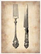 Antique Knife and Fork