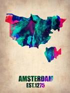 Amsterdam Watercolor Map