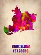 Barcelona Watercolor Map