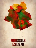 Brussels Watercolor Map
