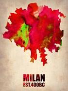 Milan Watercolor Map
