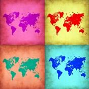 Pop Art World Map 1