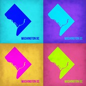 Washington DC Pop Art Map 1