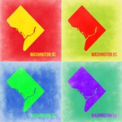 Washington DC Pop Art Map 2