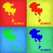 Los Angeles Pop Art Map 1