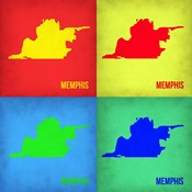 Memphis Pop Art Map 1