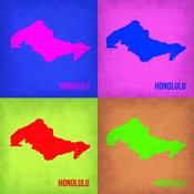 Honolulu Pop Art Map 1