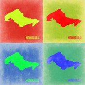 Honolulu Pop Art Map 2