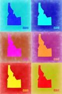 Idaho Pop Art Map 2