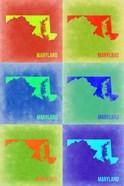 Maryland Pop Art Map 2