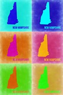 New Hampshire Pop Art Map 2