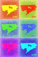 Detroit Pop Art Map 3