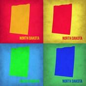 North Dakota Pop Art Map 1