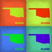 Oklahoma Pop Art Map 1