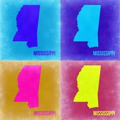 Mississippi Pop Art Map 2