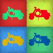 Vintage Scooter Pop Art 1