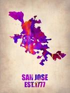 San Jose Watercolor Map
