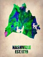 Nashville Watercolor Map