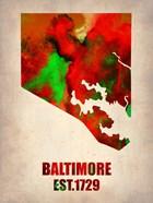 Baltimore Watercolor Map
