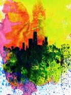 Chicago Watercolor Skyline