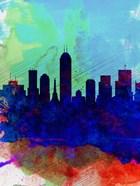 Indianapolis Watercolor Skyline