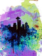 Seattle Watercolor Skyline 1