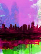 Tulsa Watercolor Skyline 2
