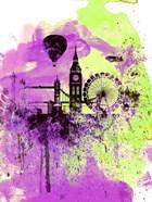 London Watercolor Skyline 1
