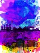 Berlin Watercolor Skyline
