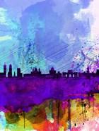 Madrid Watercolor Skyline