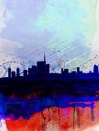 Milan Watercolor Skyline