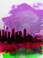 Sydney Watercolor Skyline 2