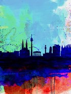 Vienna Watercolor Skyline