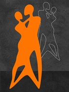Orange Couple Dancing
