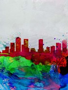Denver Watercolor Skyline