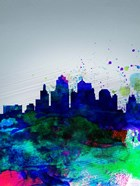Kansas City Watercolor Skyline