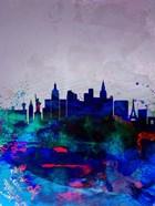 Las Vegas Watercolor Skyline